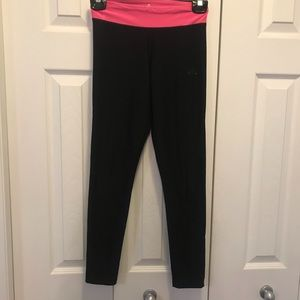 Adidas Black with Pink Band Full Length Leggings